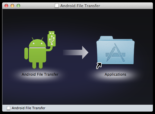 Android File Transfer インストール