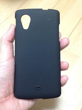 Nexus5 ケースの裏(マット感あり)